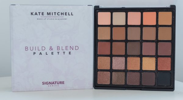 KATE MITCHELL MAKEUP STUDIO. SIGNATURE SERIES. BUILD AND BLEND PALETTE. EYESHADOW. SHADOWS. EYES. MAKEUP. NUDES. KMMS COSMETICS.
